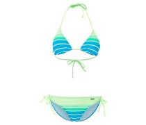 Bikini turquoise striped