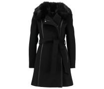 Wollmantel / klassischer Mantel noir