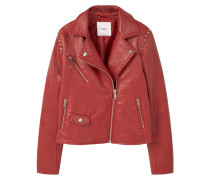ANGELA Kunstlederjacke red