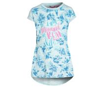 Jerseykleid - bleached aqua melange/blue