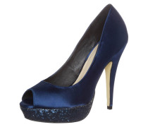 POUSSEUR Peeptoe midnight blue