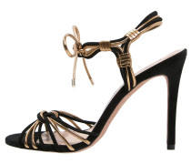 High Heel Sandaletten black/metal oro