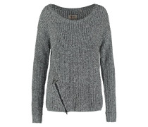 STINA Strickpullover grey melanged