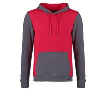 Kapuzenpullover red/dark grey