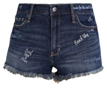 Jeans Shorts - dark-blue denim