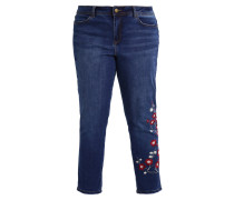 EMBROIDERED BOYFRIEND - Jeans Tapered Fit - blue