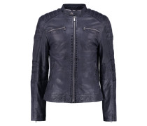 Lederjacke night blue