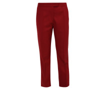 Stoffhose dark red