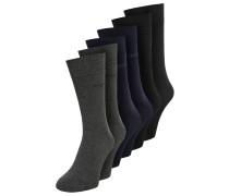 6 PACK - Socken - dark navy/anthracite melange/black