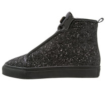 Sneaker high glitter black