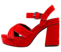 High Heel Sandaletten red