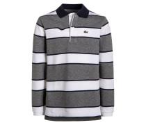 Poloshirt gris jaspe clair/aquatique