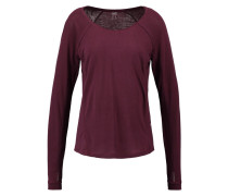 CITY Langarmshirt plum night