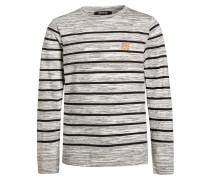 Langarmshirt gris chine