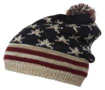 Mütze navy/beige/bordeaux