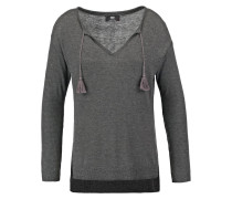 THALIA Strickpullover dark ash grey