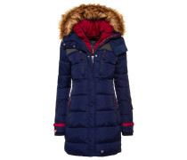 Wintermantel dark navy/cherry