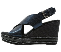 Plateausandalette blue navy