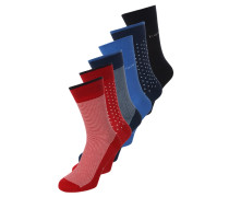 6 PACK - Socken - rio red/african blue