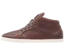 KINGSTON Sneaker high dark brown/offwhite