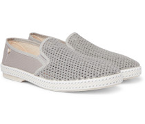 Cotton-Mesh and Canvas Espadrilles