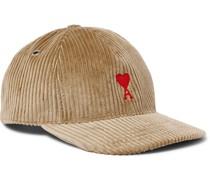 Logo-Appliquéd Cotton-Corduroy Baseball Cap