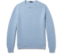 Textured-knit Virgin Wool Sweater
