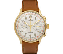 Meister Telemeter Chronoscope 40mm Gold-tone And Leather Watch