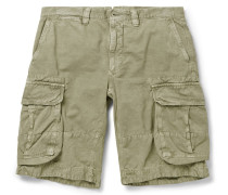 Cotton And Linen-blend Cargo Shorts