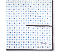 Polka-dot Cotton And Silk-blend Pocket Square