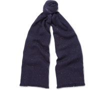 Fringed Mélange Slub Cashmere And Silk-blend Scarf