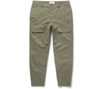 Slim-fit Tapered Cotton Cargo Trousers