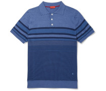 Striped Linen And Cotton-blend Polo Shirt