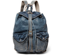 Riley Washed-leather Backpack