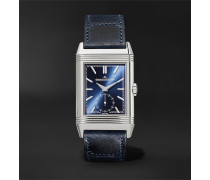 Reverso Tribute Hand-Wound 27mm Stainless Steel and Leather Watch, Ref. No. Q3978480