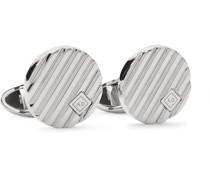 Logo-Engraved Sterling Silver Cufflinks