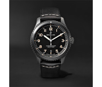 Navitimer 8 Automatic 41mm Steel and Leather Watch, Ref. No. M17314101B1X1