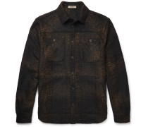 Slim-fit Checked Wool-blend Flannel Overshirt