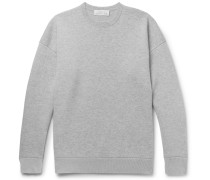 Sixty Double-faced Mélange Cashmere And Cotton Sweater