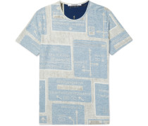 Slim-fit Printed Stretch-cotton T-shirt