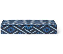 Panama Printed Textured-Leather Cufflinks Box
