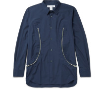 Zip-detailed Cotton Shirt
