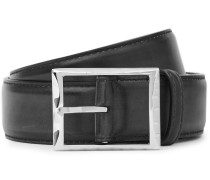 3.5cm Midnight-blue Classic Polished-leather Belt