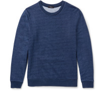 Danen Slim-fit Indigo-dyed Cotton-jersey Sweatshirt