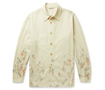 Paint-Splattered Wool-Gabardine Shirt