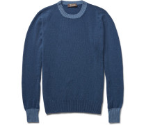 Contrast-trim Baby Cashmere Sweater