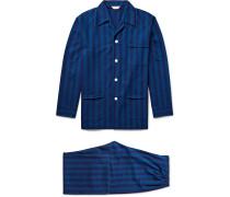 Arctic Striped Cotton-flannel Pyjama Set