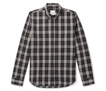 Andrew Button-Down Collar Checked Organic Cotton-Flannel Shirt