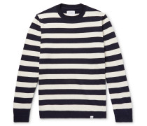 Arild Striped Cotton And Linen-blend Sweater
