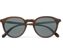 + Oliver Peoples Rue Marbeuf Round-frame Acetate Polarised Mirrored Sunglasses